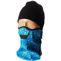 686 Maiden Face Mask (Blue Floral Camo) Knit Hats ($20) ❤ liked on Polyvore featuring costumes, blue, camo halloween costumes, camo costume, floral oxfords, 686 and camouflage halloween costume