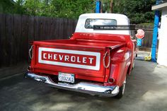 1957 Chevrolet 3100 Sb Pickup Truck Small Window Stock Photos and info - TenWheel 57 Chevy Trucks, Pickup Trucks, Chevrolet 3100, Small Windows, Cool Trucks, Pick Up, Cars, Bed, Vintage