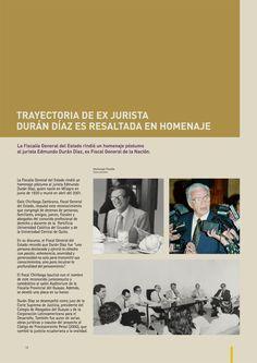 La Fiscalía General del Estado rindió un homenaje póstumo al jurista Edmundo Durán Díaz, ex Fiscal de la Nación.