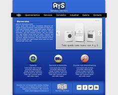 Maqueta de Sitio Web para AyS Servicio Técnico