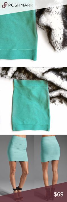 Bcbgmaxazria mint bandage skirt Similar style to retail photo. Brand new with tags. No trades. Open to offers. BCBGMaxAzria Skirts