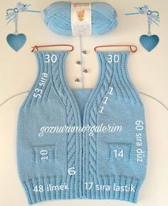 Knitting Boy's Vest Development Knitwear for many years has lengthy been trendy. Knitwear is kind of various. Knitting For Kids, Baby Knitting Patterns, Crochet For Kids, Baby Patterns, Crochet Baby, Knit Crochet, Baby Cardigan, Baby Pullover, Sewing Stitches