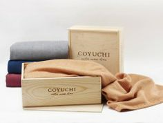 Luxury Herringbone Merino Wool Throw with Giftbox by Coyuchi