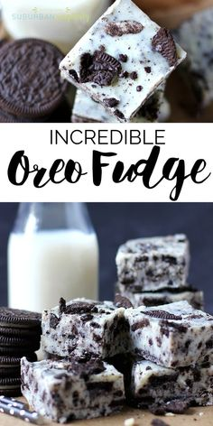 This amazing and easy Oreo Fudge is so creamy and dreamy, you'll absolutely love it! It's a simple Oreo cookie dessert idea no one can resist! Desserts Amazing and easy Oreo Fudge i Keks Dessert, Dessert Oreo, Oreo Desserts, Easy Desserts, Delicious Desserts, Amazing Dessert Recipes, Non Bake Desserts, Cheap Dessert Recipes, Plated Desserts