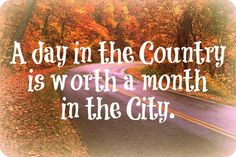 "#Inspirational quotes #Creative Country  ""A day in the country is worth a month in the city."" Many more quotes on blog."