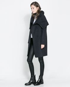 Wollen Wraparound Coat by Zara