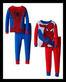 AME Sleepwear Little Boys' Spiderman Spidey Costume Four-Piece Pajama Set 100% Cotton. Imported. Machine Wash. Four-piece spiderman-themed sleep set with long-sleeve tops and elastic-waist pants with contrast cuffs. http://theceramicchefknives.com/marvel-gift-ideas-amazing-spiderman/