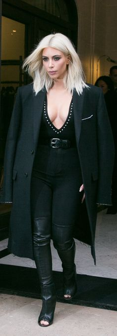 Kim Kardashian is channeling Batman — just with far more cleavage — right?