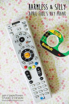 Cover the remote sensor with a piece of tape. | 31 Awesome April Fools' Day Pranks Your Kids Will Totally Fall For