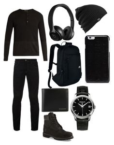 """""""Random #6"""" by m1604 ❤ liked on Polyvore featuring Helbers, Hilfiger Denim, Timberland, Patek Philippe, Burberry, NIKE, Beats by Dr. Dre, Burton, Maison Margiela and men's fashion"""