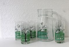 Vintage Rastal pitcher and glass set jug and by MossAndBerry