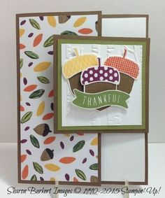 images of stampin up acorny thank you - Google Search
