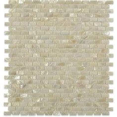 Splashback Tile Mother of Pearl Mini Brick Pattern 12 in. x 12 in. x 2 mm Mosaic Floor and Wall Tile-PITZY BRICK CASTEL DEL MONTE WHITE PEARL - The Home Depot