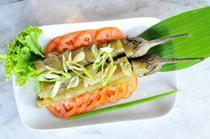 Ensaladang Talong (grilled eggplant salad) Eggplant Salad, Grilled Eggplant, Martial, Law, Diet, Banting, Diets, Per Diem