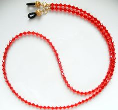 c6ea04637603 GLAMOROUS Swarovski Crystal Eyeglass Chain in Red - Crystal Glasses Lanyard  - More Colors Avail -