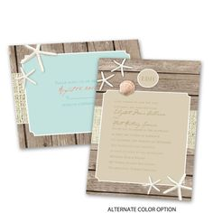 Invitations starting at 99¢! Shop Ann's Bridal Bargains for wedding invitations with FREE response postcards and enjoy beautiful options like the Beach Retreat design.