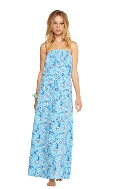 Lilly Pulitzer Marlisa Strapless Maxi Dress in Nice Tail