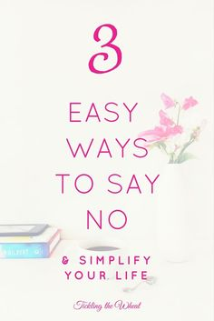 Life Hacks : 3 Simple Ways to Say No and Uncomplicate Your Life One of the simplest ways to make time for the things that really matter is to just say no. Positive Mindset, Positive Affirmations, Positive Living, Ways To Say Said, Health And Wellbeing, Mental Health, Spiritual Health, Declutter Your Mind, Just Say No