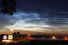 A display of Noctilucent clouds over Hoogeveen, the Netherlands.