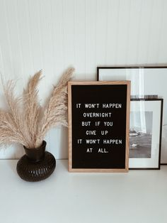 it won't happen overnight, but if you give up, it won't happen at all. Campfire Cookies, Chef Quotes, Quote Of The Week, You Gave Up, Holiday Wreaths, Giving Up, Shit Happens, Bathroom, Instagram