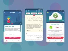 Quran App for Gen-Z (MVP) designed by Diana Eka. Connect with them on Dribbble; Android App Design, App Ui Design, Android Apps, Digital Quran, Quran App, How To Be Likeable, Allah, User Experience, Diana
