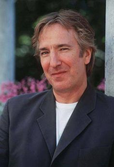 """This Photo of Alan Rickman is from a series of photos taken during an interview Alan did at the 54th Venice Film Festival in August of 1997. He was there promoting """"The Winter Guest."""""""