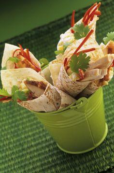 Cucina messicana, fajitas semplici con pollo e verdure