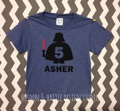 Lego Darth Vader Personalized Shirt, Birthday Shirt, Star Wars, Custom Made Applique, You Customize