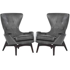 Adrian Pearsall for Craft Associates Wingback Chairs, Model 2231-C   From a unique collection of antique and modern wingback chairs at https://www.1stdibs.com/furniture/seating/wingback-chairs/