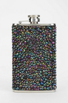 Dark Jewel Flask - Urban Outfitters. Would make a cute stocking stuffer or bday gift