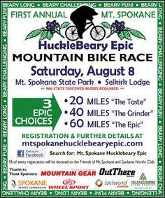Bubble Boy Boutique: Mt Spokane Mountain Bike Race HuckleBeary Epic