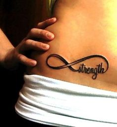 Strength infinity tattoo on the hip, I want this extremely bad