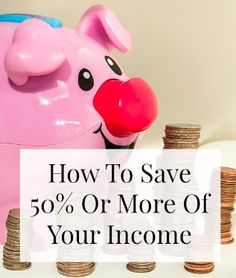 How To Save 50% Or More Of Your Income. If you are looking to live off of one income and save the other, or if you just want to live off of half of one, READ THIS! www.makingsenseofcents.com #budget #budgetcut #savemoney