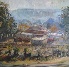 Online art gallery with original and unique artworks by Eric Eatwell Country Scenes, Backyard Farming, Eating Well, Online Art Gallery, Artwork, Painting, Work Of Art, Painting Art, Growing Vegetables