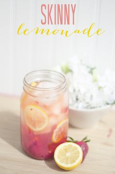 Lately all I want in my life is LEMONADE. The freshness, the sweetness, the tartness. But if I were to sip sugary lemonade all day long I'd be sick as a dog. My pregnancy APP is consta. Refreshing Drinks, Summer Drinks, Cocktail Drinks, Fun Drinks, Healthy Drinks, Beverages, Healthy Eating, Healthy Recipes, Thm Recipes