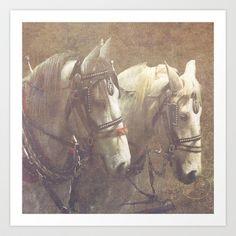 Draft Horses Art Print by Veronica Ventress - $17.68