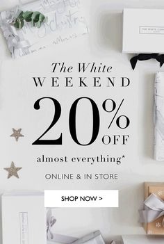 The White Company - White Weekend creative. Food Poster Design, The White Company, Work Inspiration, Black Friday, Everything, Shop Now, Creative, Home Decor, Decoration Home
