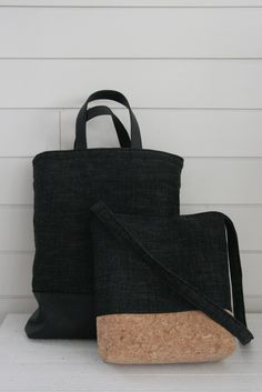 Korkkilaukku. Bag made of cork.