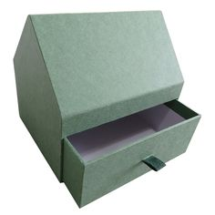 Rigid sleeve box with satin ribbon loop