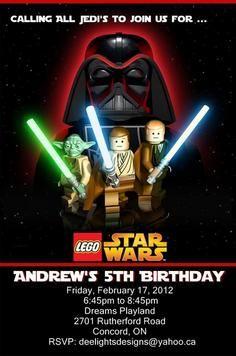 Lego Star Wars Birthday Party Invitation by SleepingOwlCreations ...