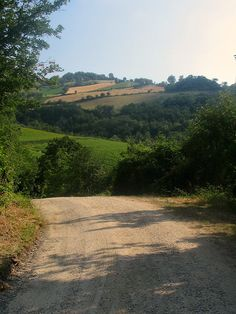 A road from nowhere to somewhere in Le Marche