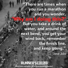 Keep your eye on the finish line