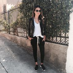 Our Lux Joggers now available in Black!  / www.shopsincerelyjules.com