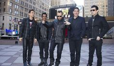 "New Kids Kids On The Block members, from left, Joey McIntyre, Danny Wood, Donnie Wahlberg, Jonathan Knight and Jordan Knight announce their ""The Main Event"" tour at Madison Square Garden on Tuesday, Jan. 20, 2015, in New York. (Photo by Charles Sykes/Invision/AP)"