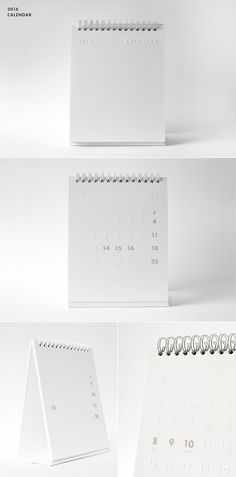 소재와 기능의 본질 백상점 essence of the materials and function. / 2016 desk calendar