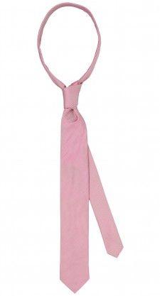 Zijde roze stropdas