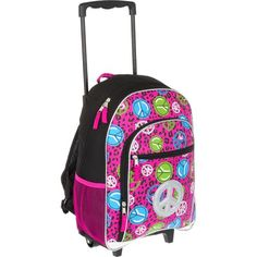 $21.24 Girls Rolling Backpack - Leopard at mygofer.… | Pinteres…