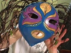 How to Make a Colorful Gourd Art Mask : Decorating : Home & Garden Television