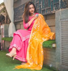 Image may contain: one or more people, people standing and outdoor Pakistani Dresses, Indian Dresses, Indian Outfits, Punjabi Dress, Western Outfits, Kurti Neck Designs, Kurti Designs Party Wear, Blouse Designs, Dress Designs