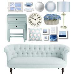 White & Blue Pastel